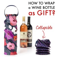 Set of 3: Origami Wine Paper Tote Bag