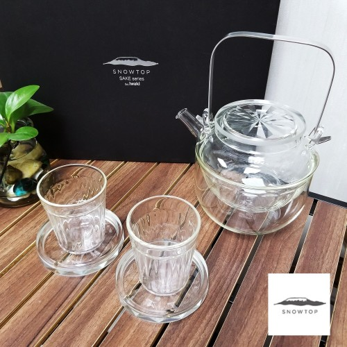 Japan Iwaki Snowtop Sake Glassware Set
