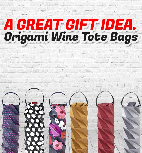 BUILT NY origami wine tote paper bag