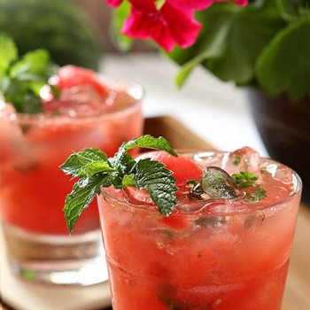 Watermelon Mint Wine Cocktail